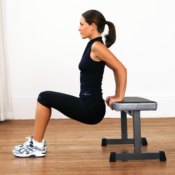 how to lose arm fat_tricep dips